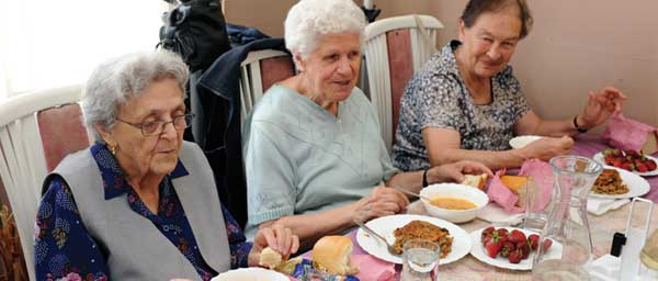 Food assistance programs worldwide provide survivors with nutritious hot kosher meals.