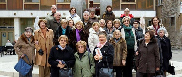 Holocaust survivors that attended the Winter Retreat in Opatija organized by the Holocaust Survivors of Croatia and funded by the Claims Conference. Most of the survivors have known each other for six decades or more, growing up together in Zagreb and returning to raise families after the Holocaust. More than friends, they consider themselves a family.