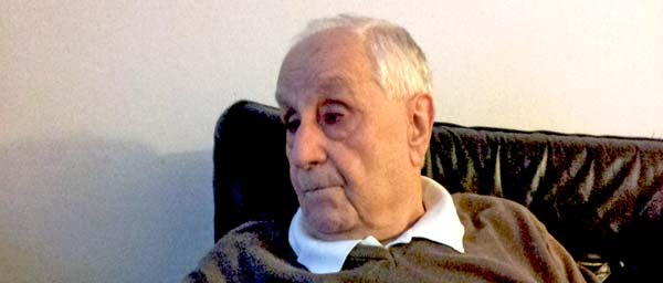 """Dr. Szanto is grateful for the help he receives from UZZNO in Slovakia and from the Claims Conference. """"I'm glad I have the option of homecare services,"""" he said. """"It gives me the ability to stay in my own home."""""""
